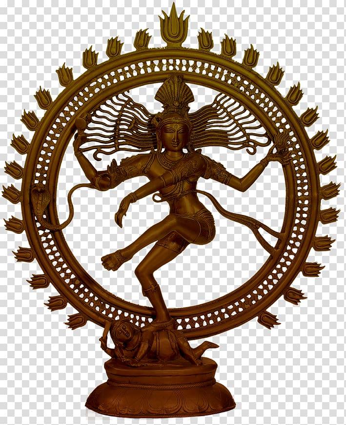 Brown Hindu God figurine, Shiva Moradabad Nataraja Ganesha.