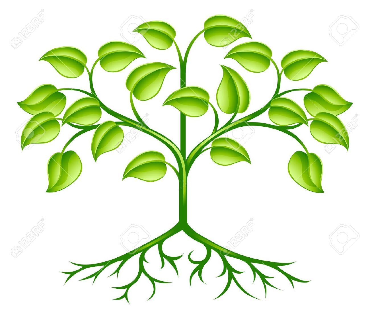 Un Verde árbol Estilizado Elemento De Diseño Que Simboliza El.
