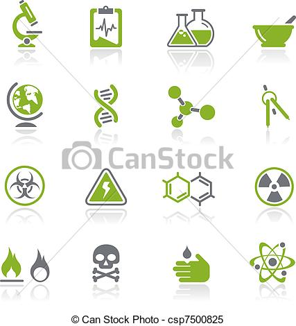 Clipart Vector of Science Icons / Natura.