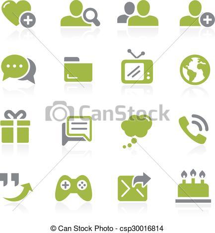 Vector Clip Art of Social Communications. Natura.