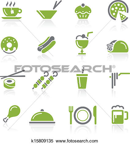 Clipart of Food Icons.