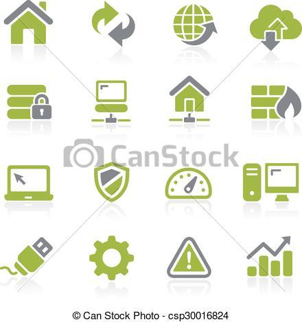 Vector Illustration of Web Developer Icons. Natura.