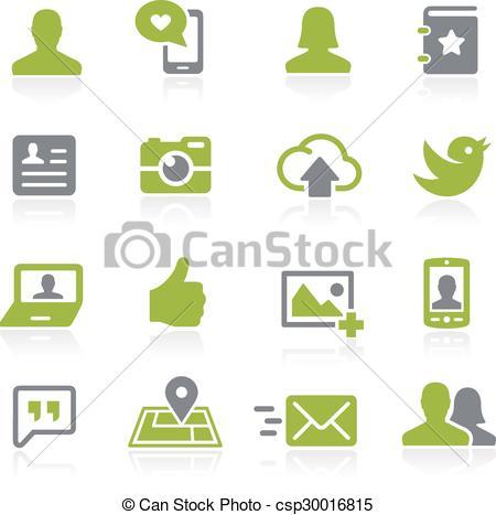 Vector Clip Art of Social Icons. Natura.