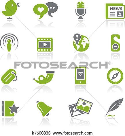 Clipart of Social Media / Natura k7500833.