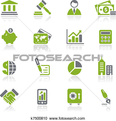 Clipart of Business & Finance Icons / Natura k7500810.