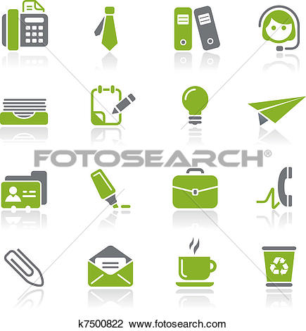Clipart of Office & Business Icons / Natura k7500822.