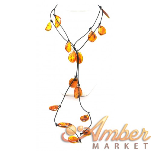 Baltic amber shell necklace.