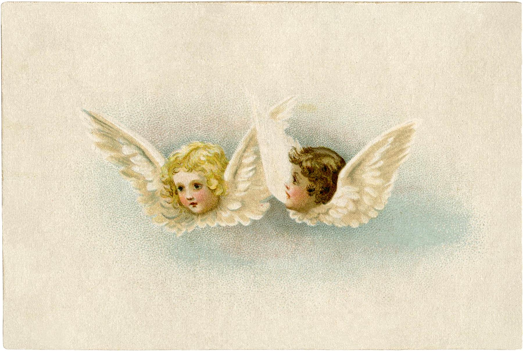 Free Vintage Angels Clip Art.