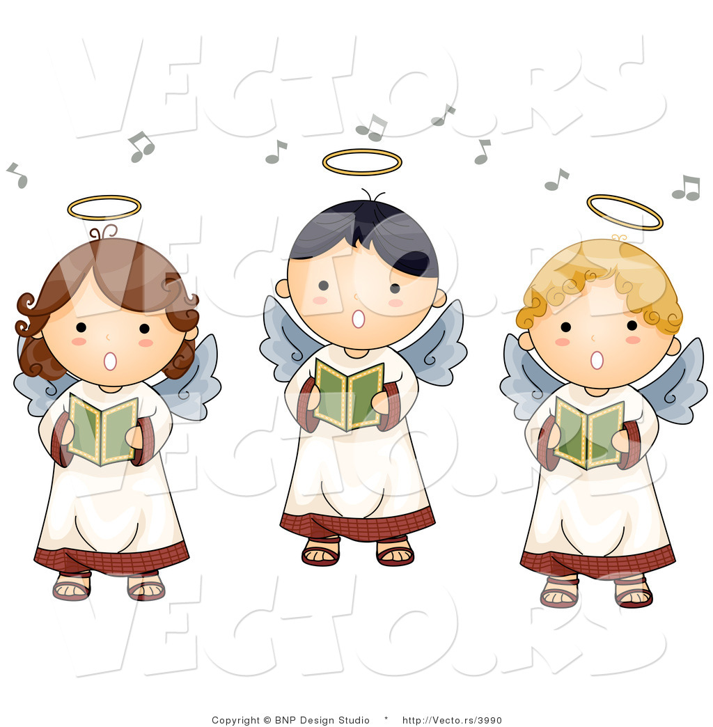 Free Angels Singing Clipart.
