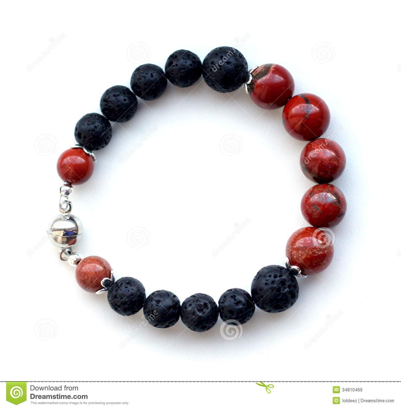 Stone Bracelet Royalty Free Stock Images.