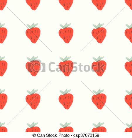 Clipart Vector of Seamless natural color pattern of red ripe.