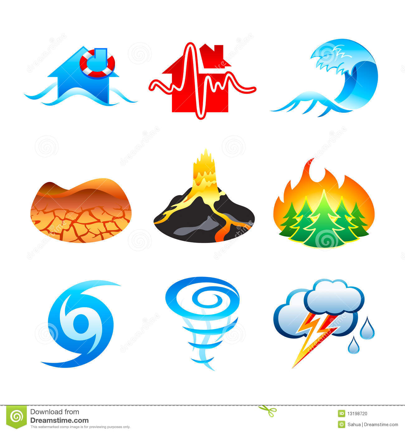 Natural disaster clipart.