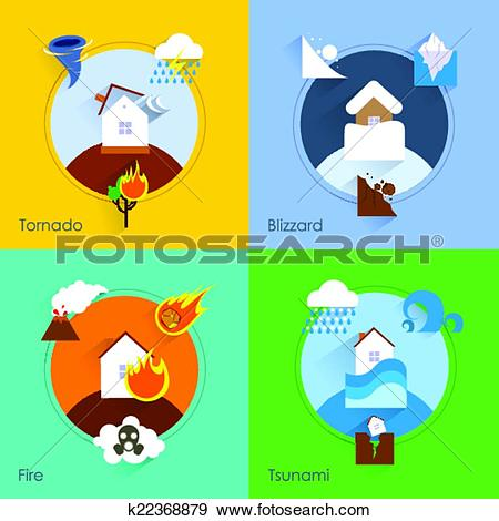 Natural disaster Clip Art Vector Graphics. 2,581 natural disaster.