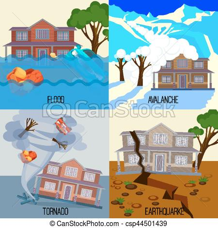 Natural Disaster Flood Clipart.