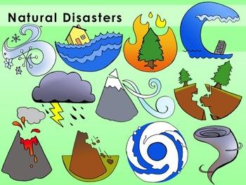 Natural Disasters Clip Art.