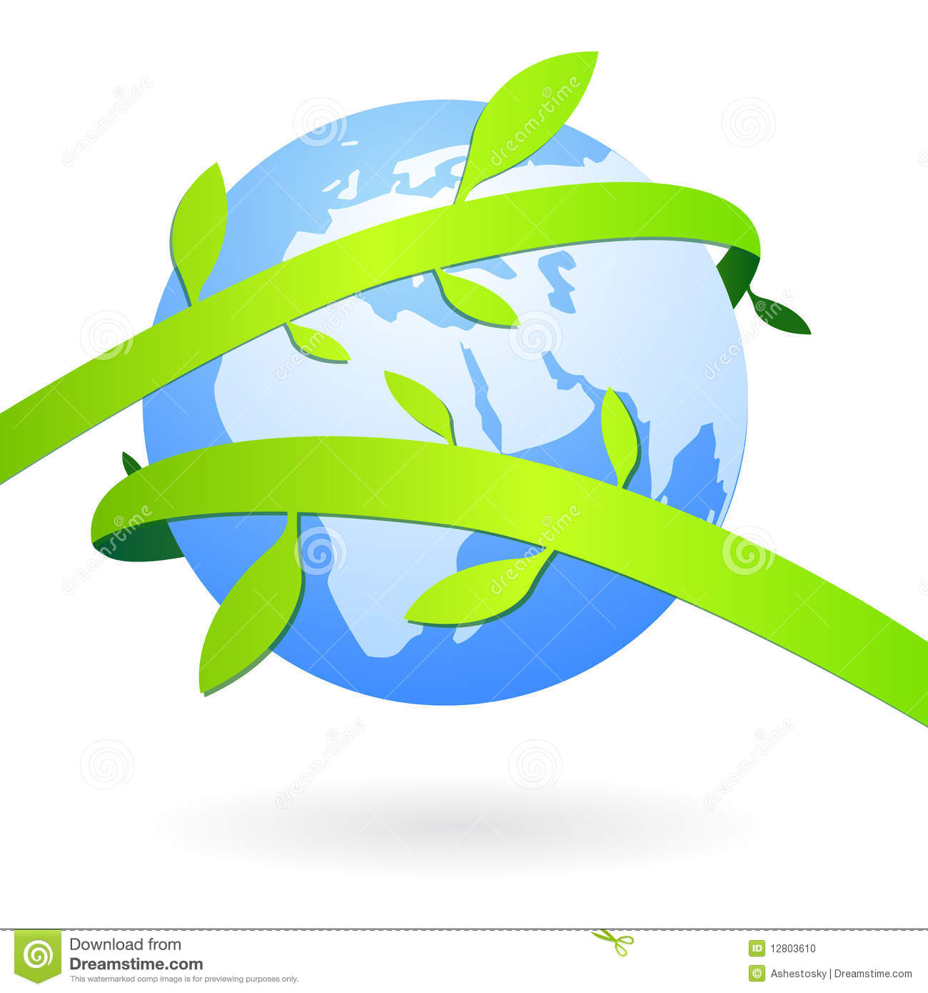 Earth With Natural Decorations Stock Photo.