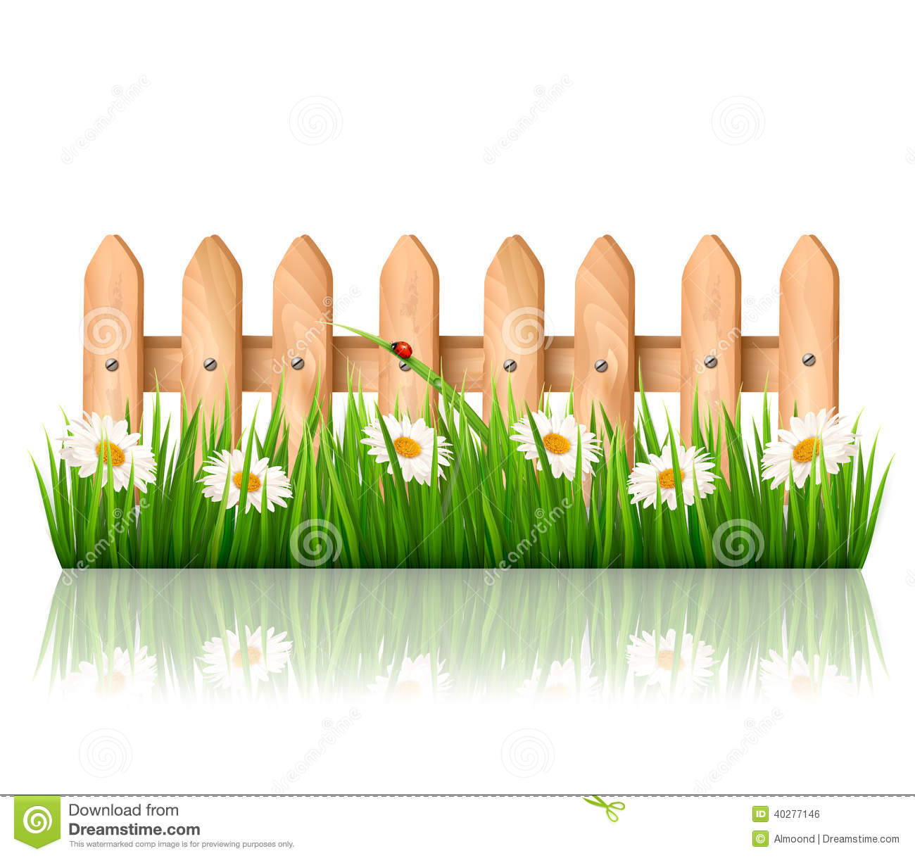 clip art pictures of kid fence in the garden.