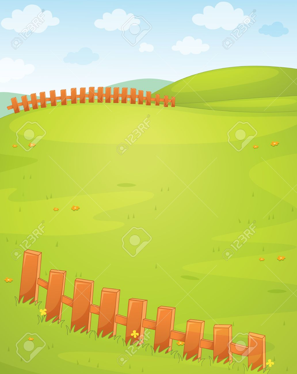 Illustration Of An Empty Field Royalty Free Cliparts, Vectors, And.