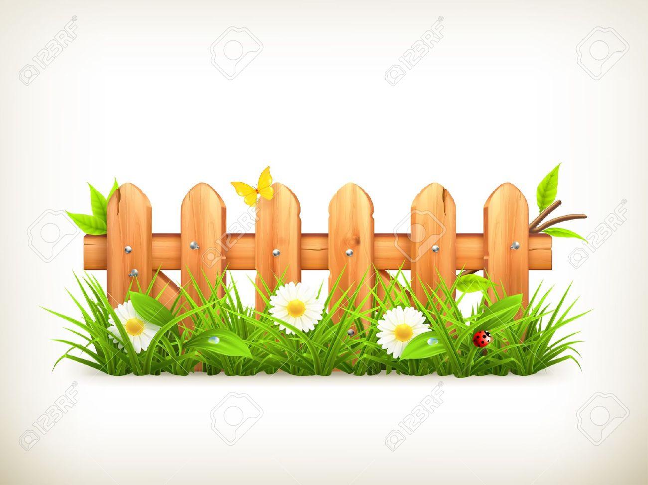 Natural flower garden clipart.