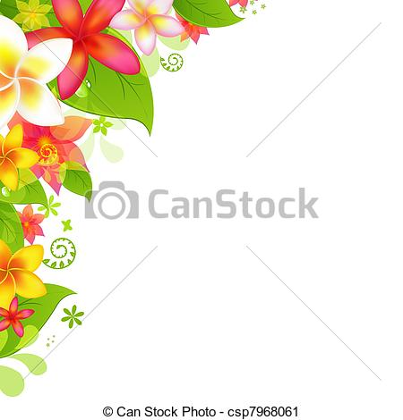 Vector Clip Art of Natural Background With Flower, Isolated On.