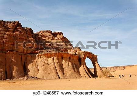 Picture of Natural rock formation in the Akakus Mountains, Libya.