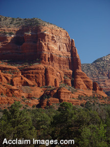 Free Stock Clip Art Photo of a Red Rock Formations in Sedona, Arizona.
