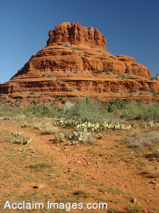 Free Stock Clip Art Photo of Formations of Red Rock in Arizona.