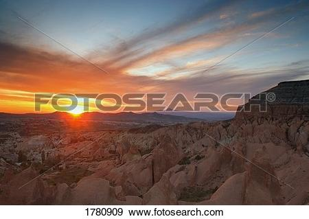 Stock Photograph of Sunset by natural formations 1780909.