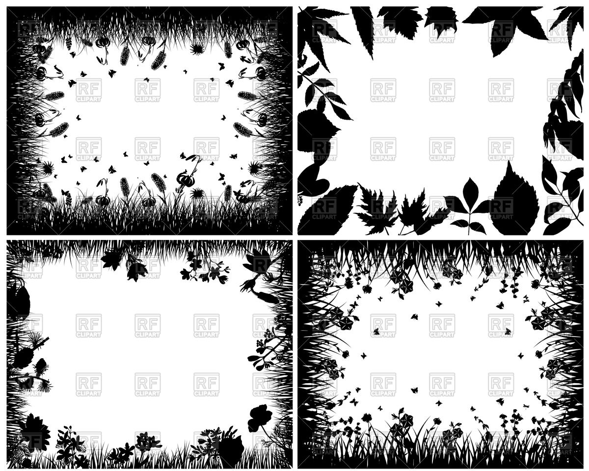 Natural frame silhouettes Vector Image #105324.