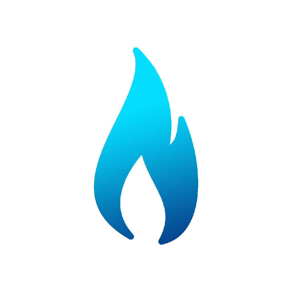 Natural gas clipart icon.