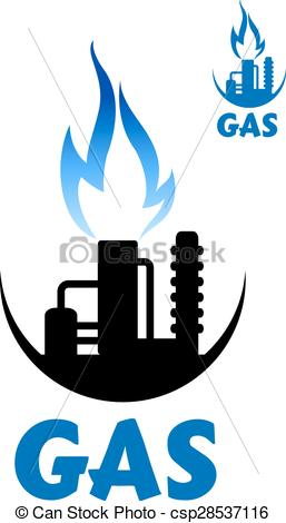 Natural gas flame clipart.