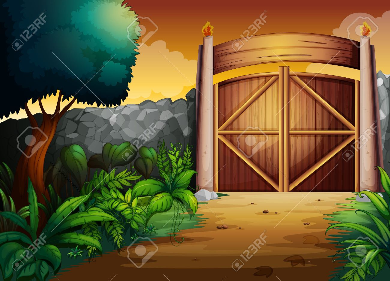 8,906 Entrance Gate Stock Vector Illustration And Royalty Free.