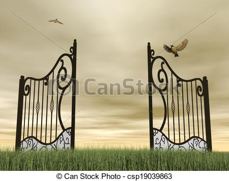 Open gate Clipart and Stock Illustrations. 5,040 Open gate vector.