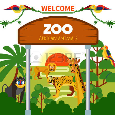 151 Zoo Gate Stock Vector Illustration And Royalty Free Zoo Gate.