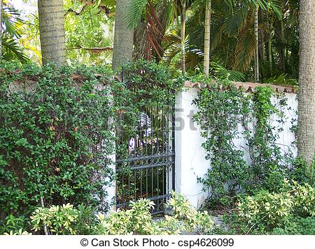 Stock Photographs of Iron Garden Gate.