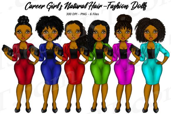 Natural Hair Career Girls Clipart.