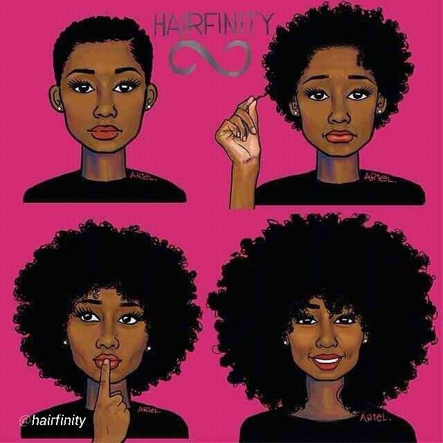 Natural Hair Clip Art.