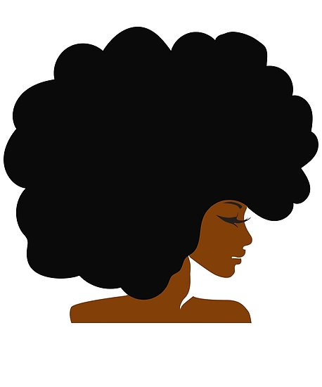 'Big Curly Afro Natural Hair Black Woman' Poster by blackartmatters.