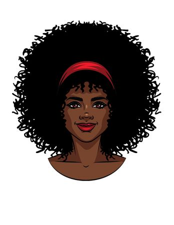 228 Afro Natural Hair Stock Illustrations, Cliparts And.