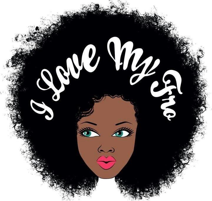 Natural Hair Clip Art N5 free image.