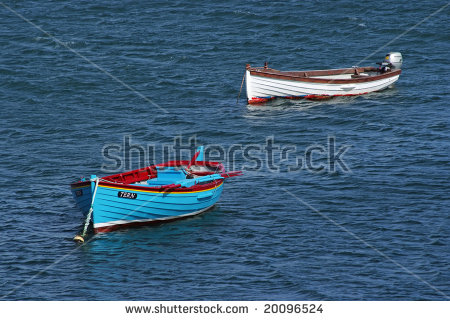 Two Calm Empty Rowboats Stock Photos, Images, & Pictures.