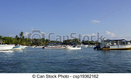 Stock Image of bayahibe harbor.