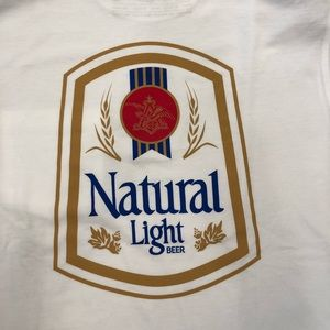 NEW. Natty Light Vintage Logo Tee Boutique.