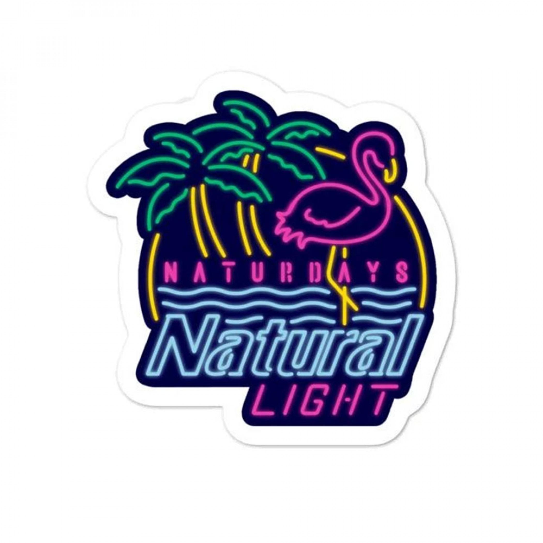 Natural Light Beer Naturdays Sticker.