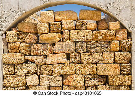Stock Image of Natural material for the construction of coquina.
