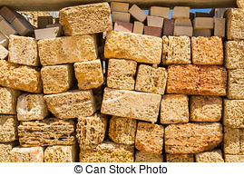 Stock Photo of Natural material for the construction of coquina.