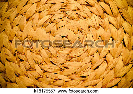 Picture of patern design of natural material weaving background.