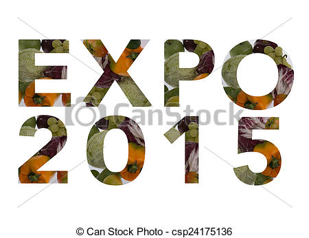 Stock Photos of Written expo 2015, realized with natural materials.