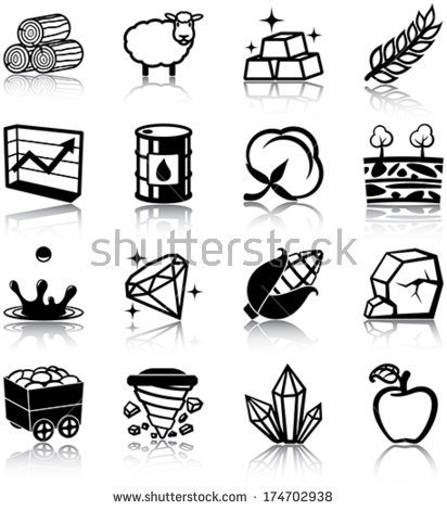 Raw Materials Clipart.