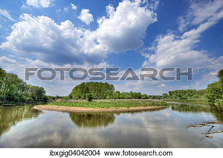 """Stock Photo of """"Natural Monument Osypane brehy and Morava river."""